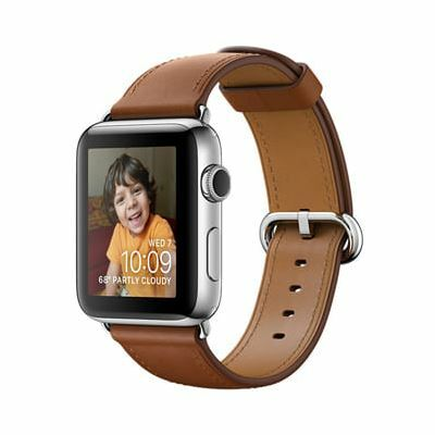 Apple Watch Series 2, 38mm - Viền Thép, Dây Da, Cũ 99%