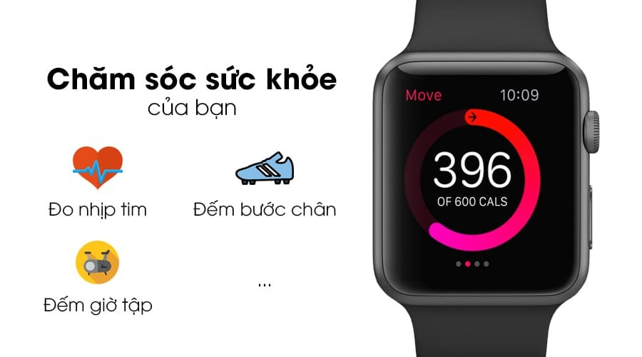 Apple Watch Series 2, 42mm THÉP - Like New 99% - Hình 1
