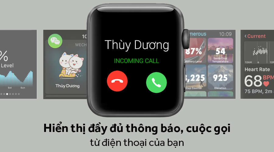 Apple Watch Series 3 38mm THÉP (LTE) - Like New 99% - Hình 4