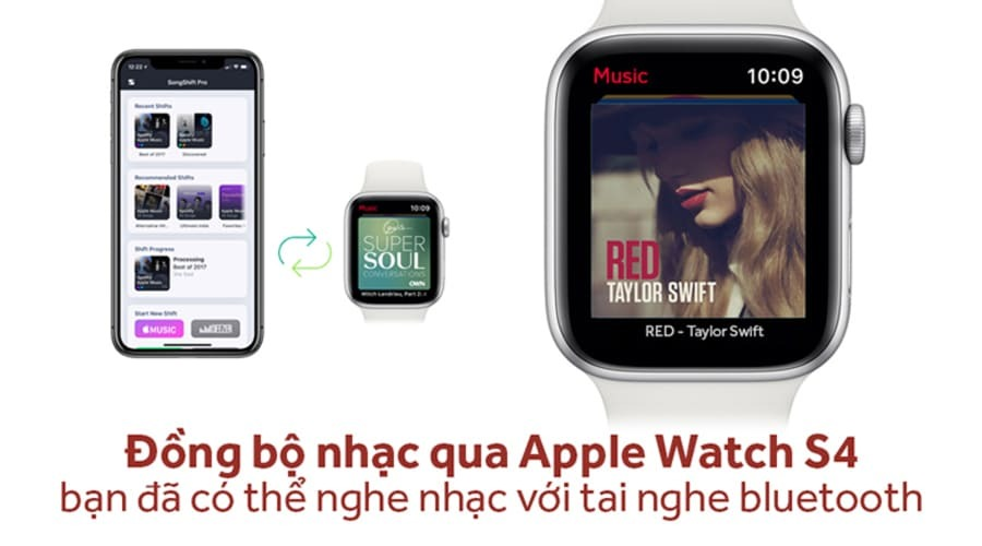 Apple Watch Series 4 44mm Nhôm (LTE) - New 100% - Hình 5