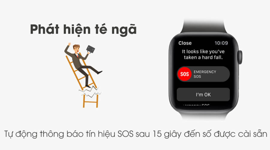 Apple Watch Series 5 44mm NHÔM (GPS) - New 100% - Hình 11