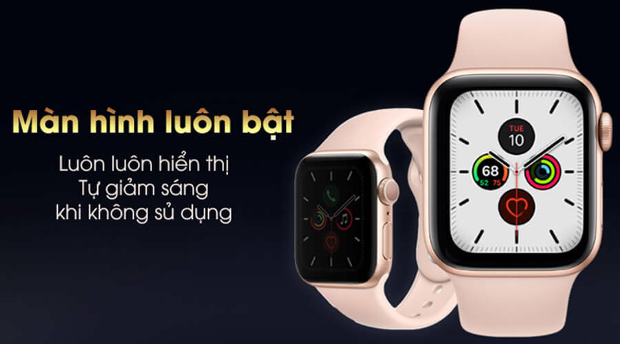 Apple Watch Series 5 44mm NHÔM (GPS) - New 100% - Hình 2
