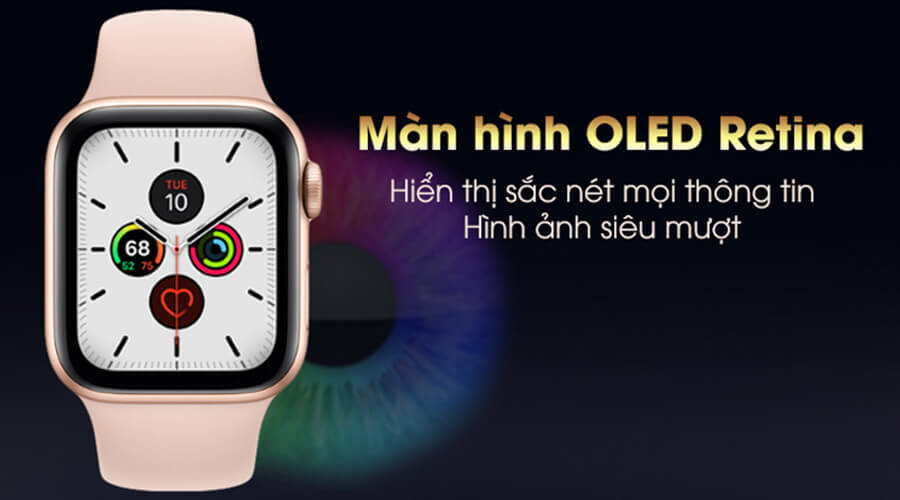 Apple Watch Series 5 44mm NHÔM (GPS) - New 100% - Hình 3