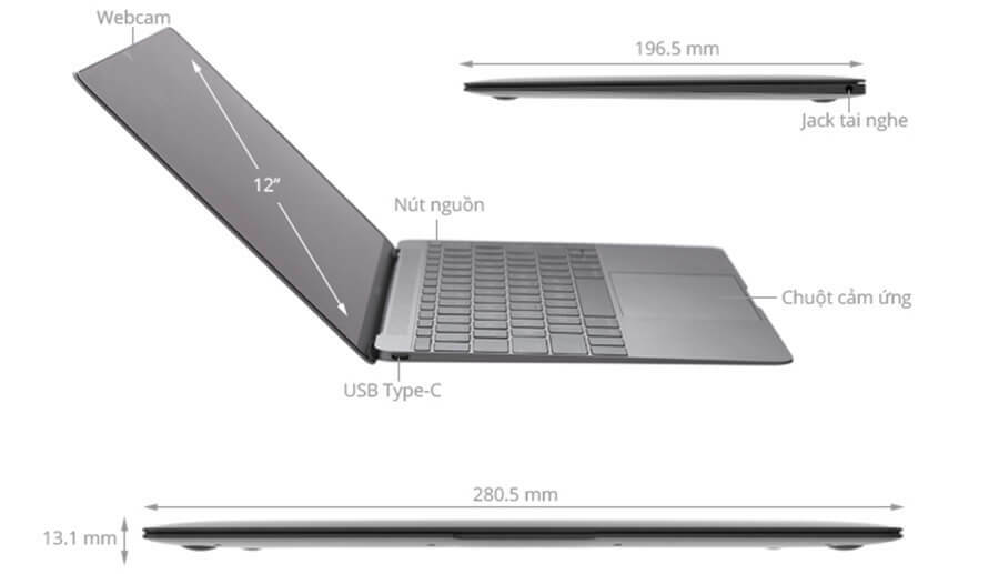 Macbook 12 (2017) M 1.2GHz/8GB/256GB Mới 100%