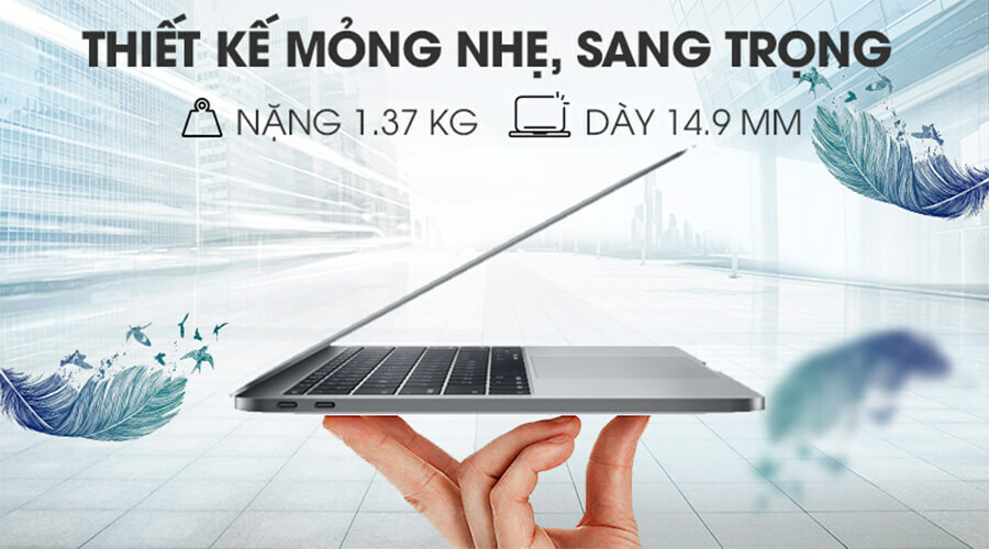 "Apple Macbook Pro 13"" (2019) i5 2.4GHz/8GB/512GB Mới 100% - Hình 1"