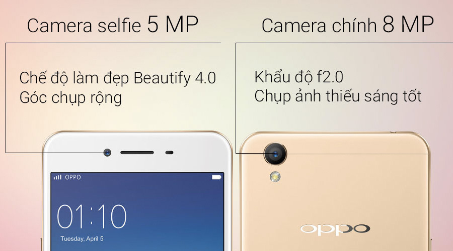 Oppo A37 - Camera tuyệt vời