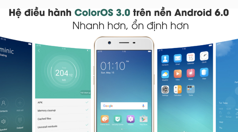 Oppo F3 Lite - Giao diện tinh tế